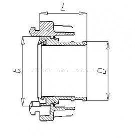 Łącznik tłoczny 75 PN (para) -  - 75