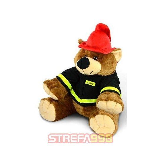 Maskotka misiek strażak duży