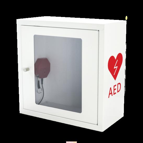 Szafka na AED ASB1011 biała z alarmem dźwiękowym