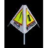 "Znak drogowy rozstawny ""Piramida"""